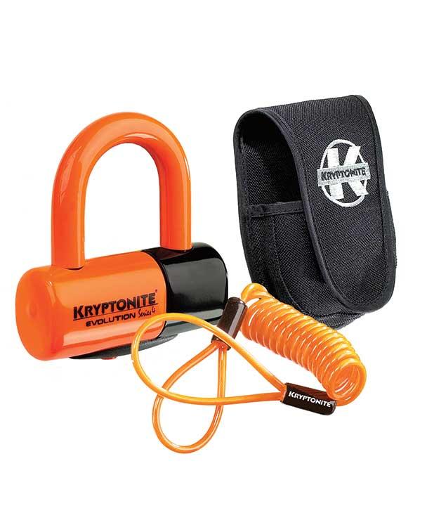 Kryptonite New York Cinch Ring Chain 1275 and Evolution Disc Lock Keyed 70cm